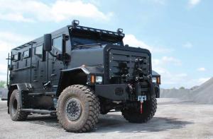 le camion blindé acheté par la Ville de Québec à l'automne 2012, pour le SPVQ