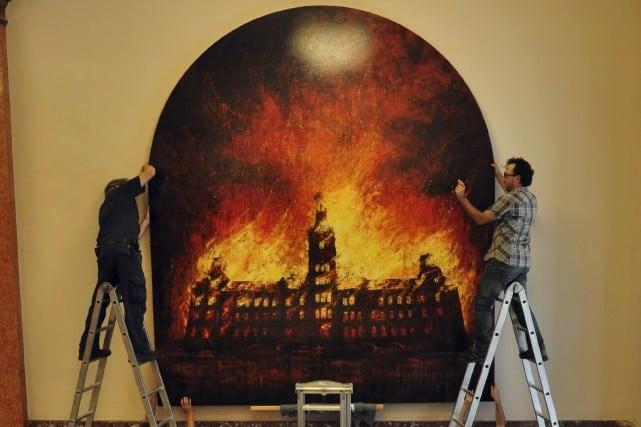 Incendie au parlement