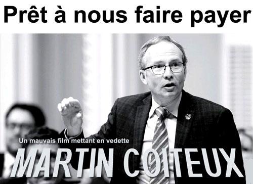 Martin Coiteux: prêt à nous faire payer